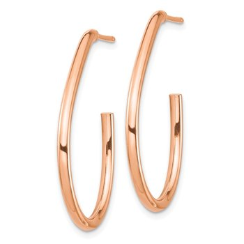 14k Rose Gold Polished Post Dangle Earrings