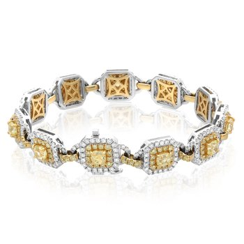 Two Tone Yellow Diamond Bracelet