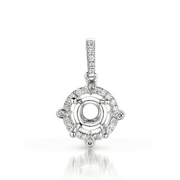 Diamond Pendant For .50ct  Round Stone