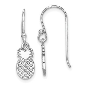 Sterling Silver Rhodium-plated Pineapple Dangle Earring