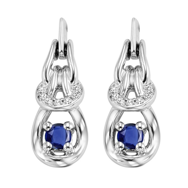 Mixables 14K Sapphire & Diamond Earrings