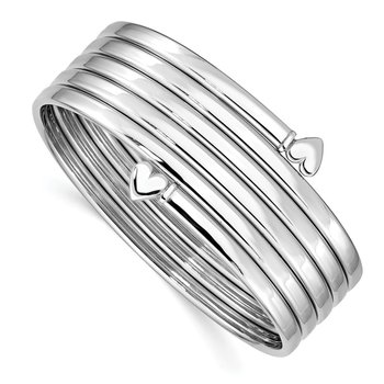 Sterling Silver Rhodium-plated Bangle Bracelet