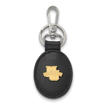 Gold-Plated Sterling Silver Marquette University NCAA Key Chain
