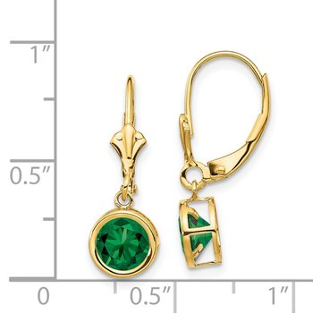 14k 6mm Mount St. Helens Leverback Earrings