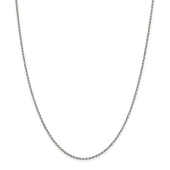 Sterling Silver 1.7mm Diamond-cut Rope Chain