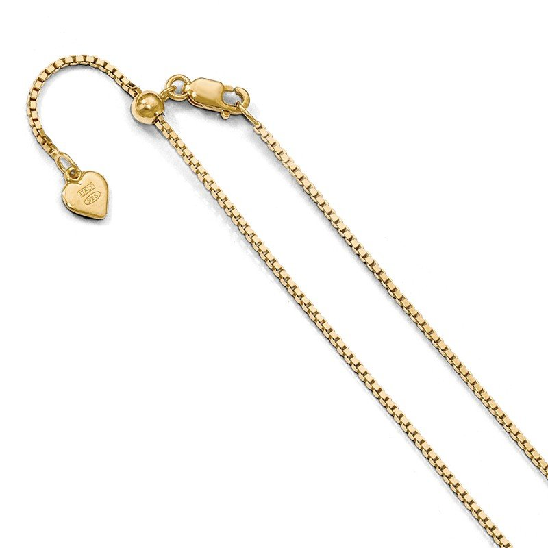 Leslie's Leslie's Sterling Silver Gold-plated Adjustable 1.1mm Box Chain