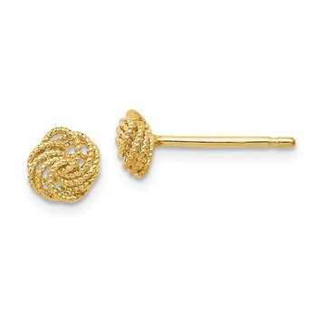 Leslie's 14k Textured Love Knot Post Earrings