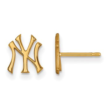 Gold-Plated Sterling Silver New York Yankees MLB Earrings