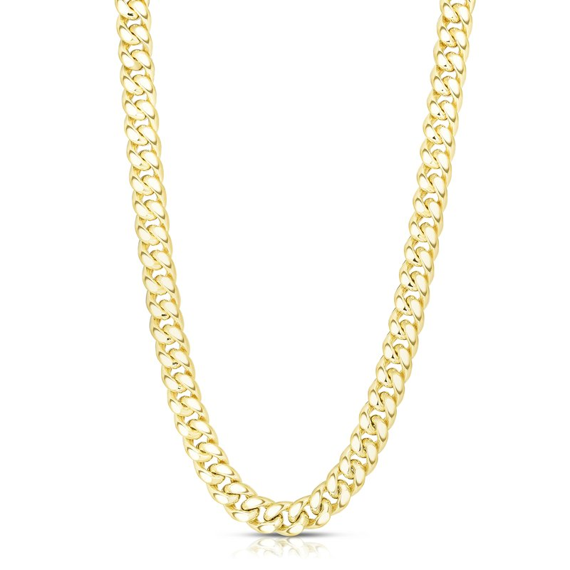 Royal Chain 14K Gold 11.13mm Semi-Solid Classic Miami Cuban