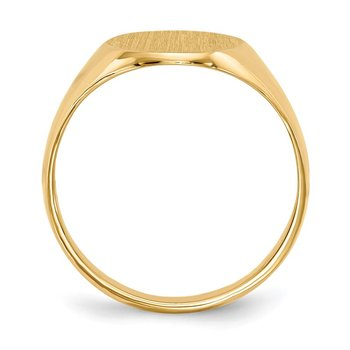 14k 14.0x10.0mm Closed Back Signet Ring