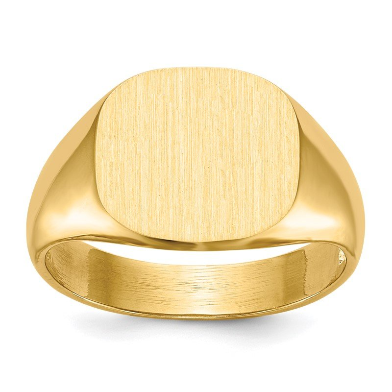 Quality Gold 14k 12.0x13.5mm Open Back Men's Signet Ring