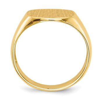 14k 12.0x13.5mm Open Back Men's Signet Ring