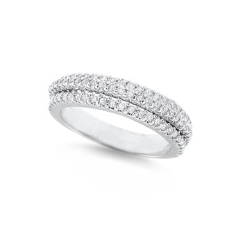 Diamond Stack Ring in 14K White Gold with 79 Diamonds Weighing.55ct tw