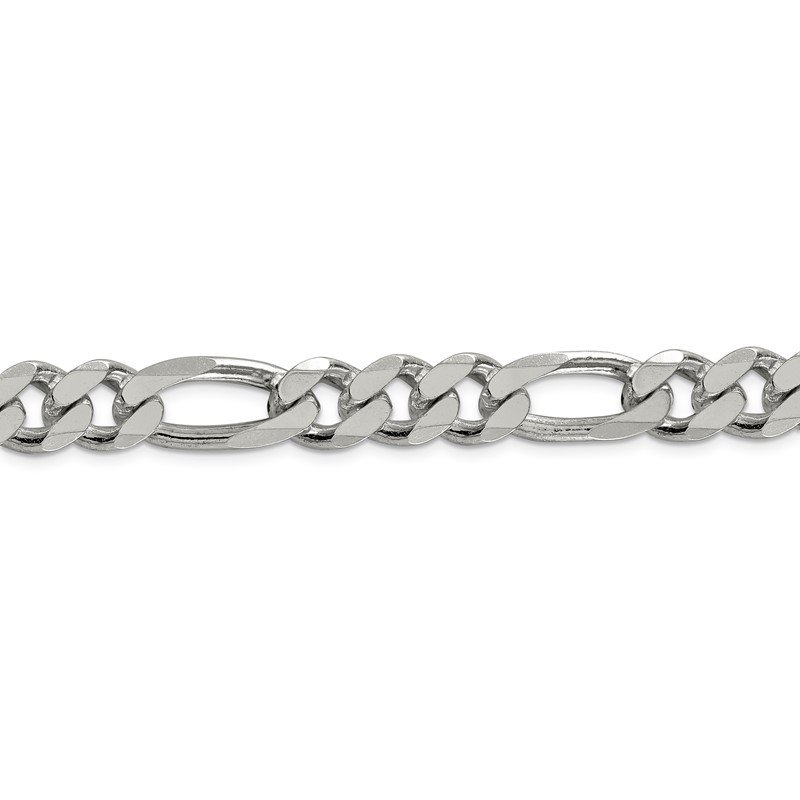 Quality Gold Sterling Silver 10.75mm Figaro Chain