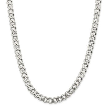 Sterling Silver 9mm Curb Chain