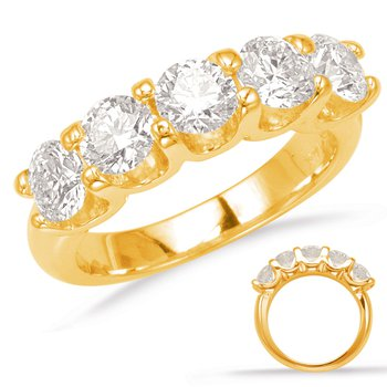 Yellow Gold Prong Set Band