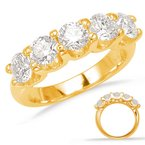 S. Kashi & Sons Bridal Yellow Gold Prong Set Band
