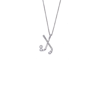 18KT WHITE GOLD GOLF PENDANT