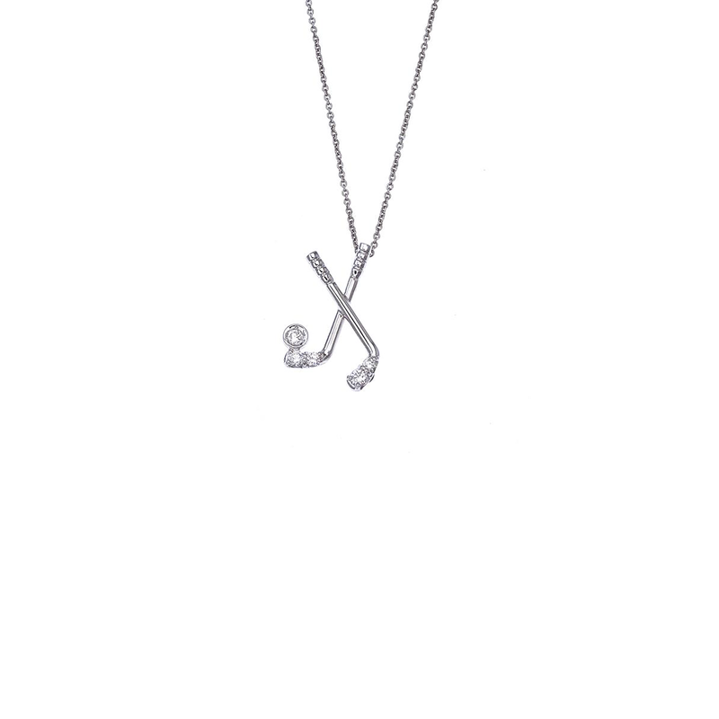 Roberto Coin 18Kt White Gold Golf Pendant