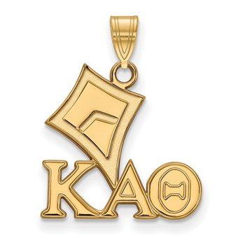 Gold-Plated Sterling Silver Kappa Alpha Theta Greek Life Pendant
