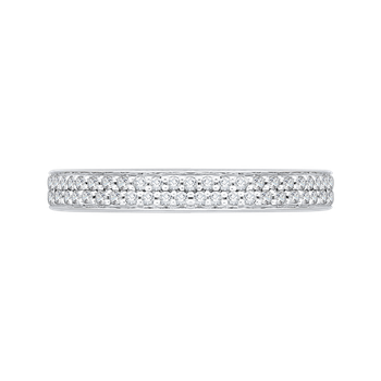 18K White Gold Carizza  Wedding Band