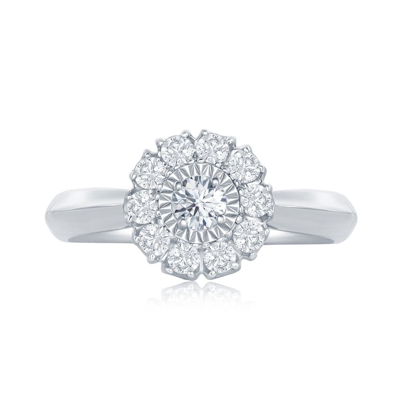 Veer Diamonds ROUND MIRACLE FLOWER RING