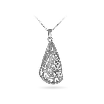 925 SS and Diamond Fashion Pendant