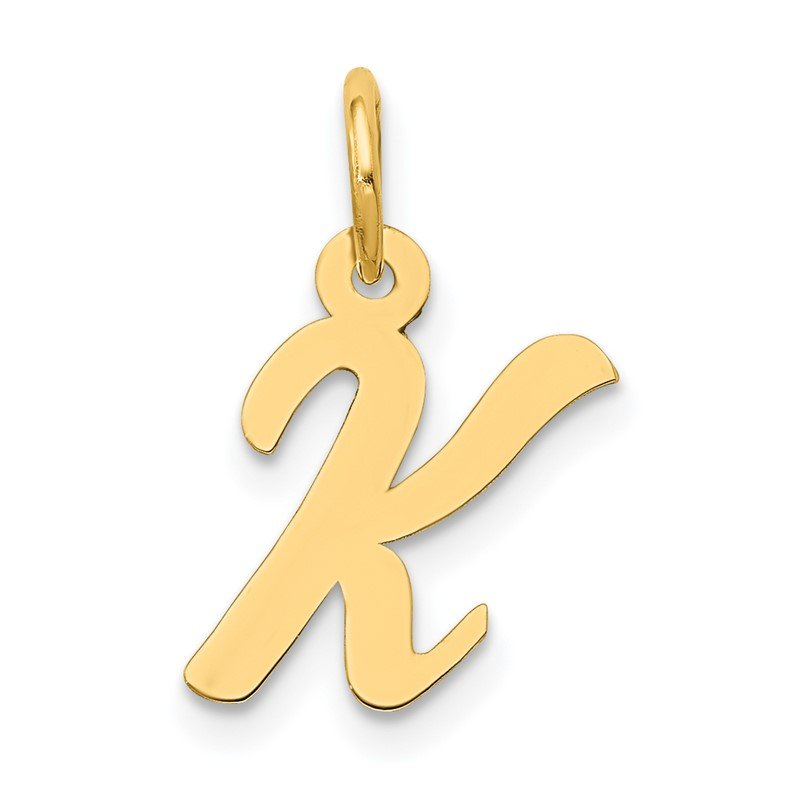 Quality Gold 14k Small Script Letter K Initial Charm