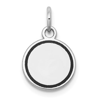 14k White Gold w/Enamel .027 Gauge Circular Engravable Disc