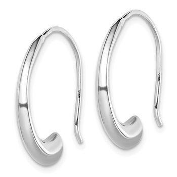 Sterling Silver Rhodium-plated Threader Dangle Earrings