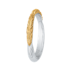 Carizza 14K Two-Tone Gold Plain Wedding Band
