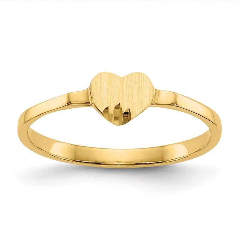 Quality Gold 14k Heart Signet Ring