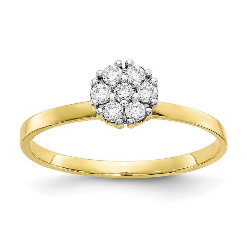 Quality Gold 10k CZ Cluster Promise Ring