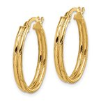 Quality Gold 14K Yellow Gold Hoop Earrings