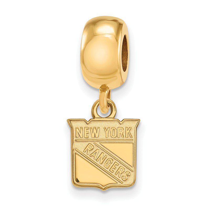 NHL Gold-Plated Sterling Silver New York Rangers NHL Bead