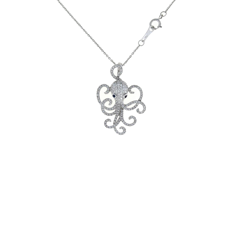Roberto Coin 18Kt Gold Octopus Pendant With Diamonds