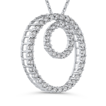 1/2 Ct Diamond Circle Pendant with Chain