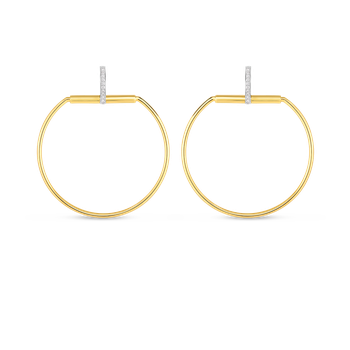 18KT GOLD EARRINGS WITH DIAMONDS