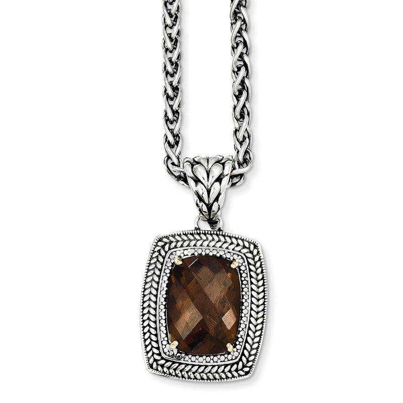 Shey Couture Sterling Silver w/14k Smoky Quartz Necklace