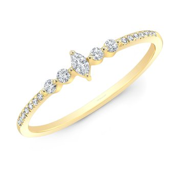 Yellow Gold Dainty Marquise Ring