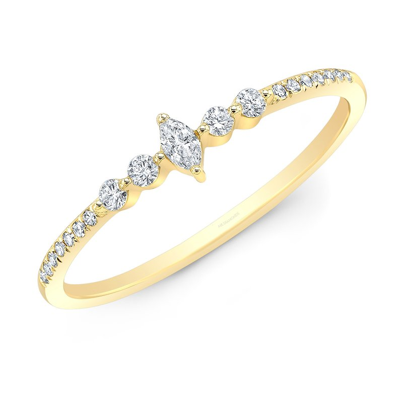 Robert Palma Designs Yellow Gold Dainty Marquise Ring