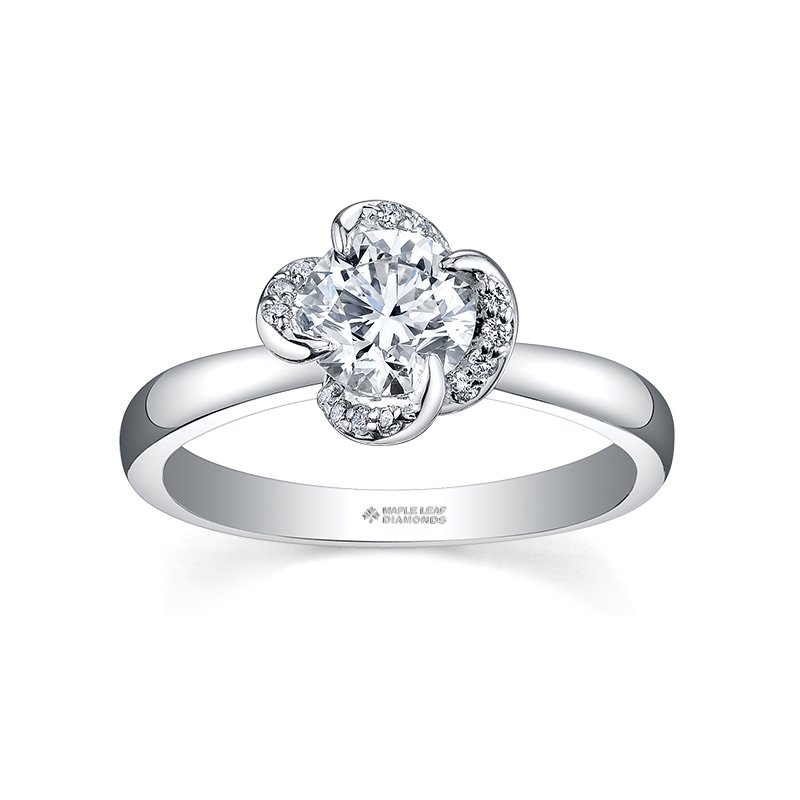 Maple Leaf Diamonds Maple Leaf Diamond Wind's Embrace Ladies Engagement Ring