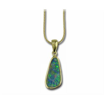 Yellow Gold Opal Pendant