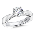 Valina Diamond Solitaire Engagement Ring Mounting in 14K White Gold (.10 ct. tw.)