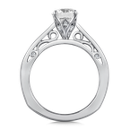 Valina Bridals Diamond Solitaire Engagement Ring Mounting in 14K White Gold (.10 ct. tw.)