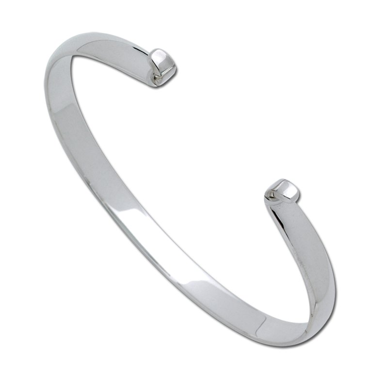 Lestage Sterling Silver Wide Polished Bracelet