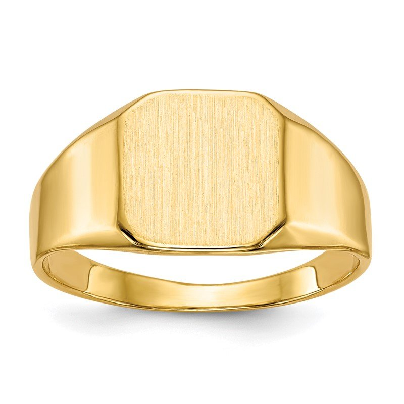 Quality Gold 14k 10.0x10.0mm Closed Back Mens Signet Ring