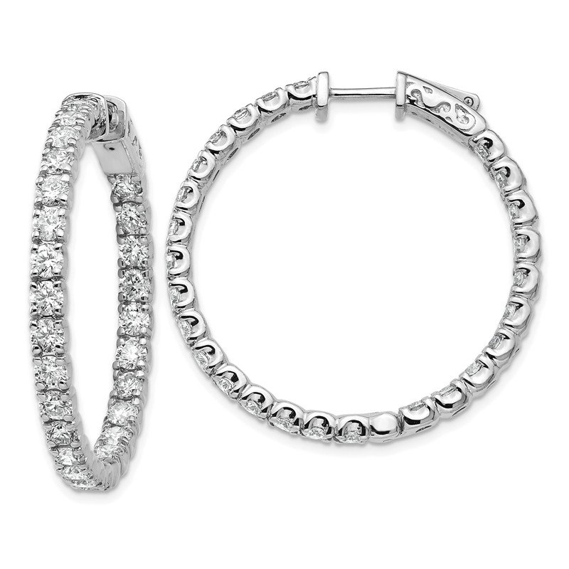 True Origin 14kw True Origin Lab Grown VS/SI D,E,F Diamond Hoop with Safety Clasp
