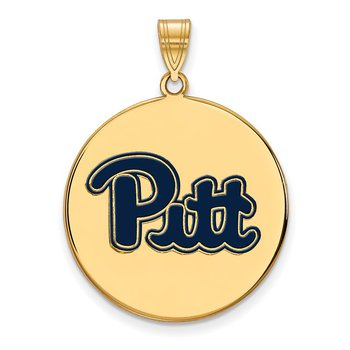 Gold-Plated Sterling Silver University of Pittsburgh NCAA Pendant