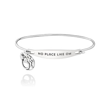 No Place Like Om ID Bangle